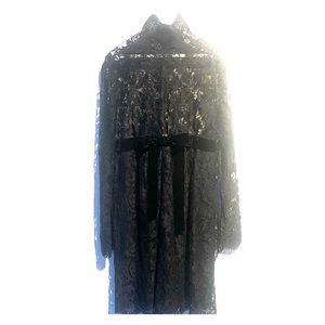 Vintage Valentino Black Lace Dress
